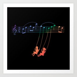 Music Swing Art Print