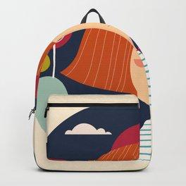 Girl happy Backpack