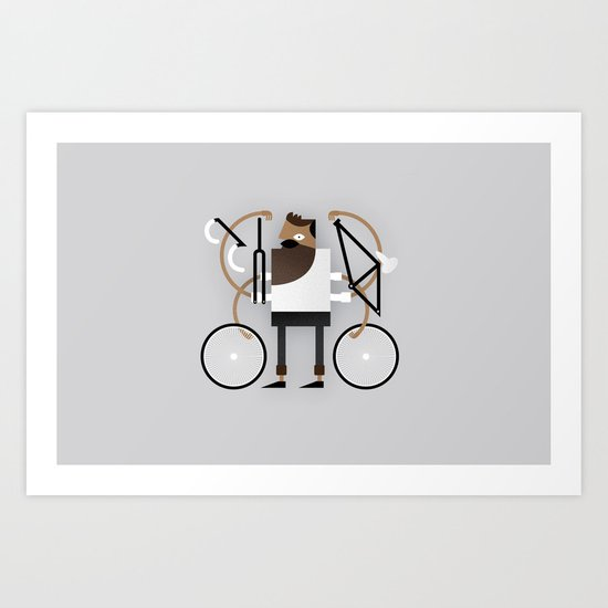 Back to Fixie Business Art Print