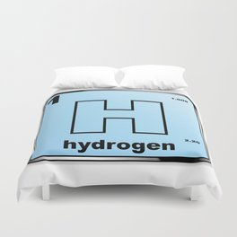 Hydrogen From The Periodic Table Duvet Cover