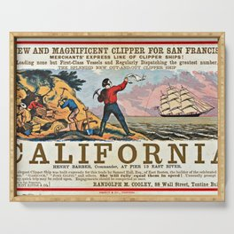 A New and Magnificent Clipper for San Francisco. Merchant's Express Line of Clipper Ships! Serving Tray
