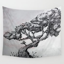 Stripple Tree Wall Tapestry