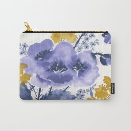 Blue and Yellow Floral #2 Carry-All Pouch