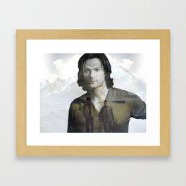 Sam Winchester Fan Art Framed Art Print