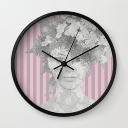 Look at me (romantic flowers vintage) Wall Clock