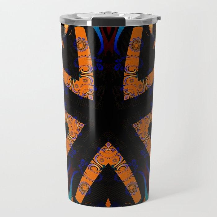 Tribal Geometric Travel Mug