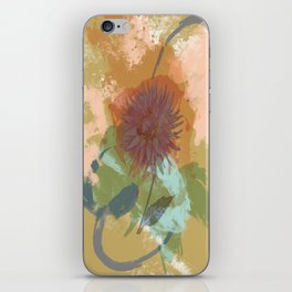 Autumnal Brushstrokes, Abstract Floral Art iPhone Skin