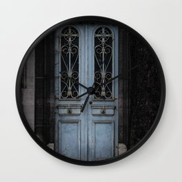 Gothic Door Cemetery Paris Wall Clock