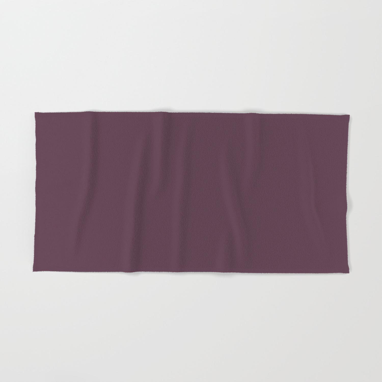 Deep Eggplant Purple Color Hand Bath Towel
