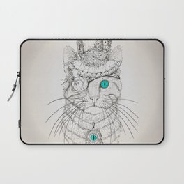 Steampunk Cat Vintage Style Laptop Sleeve