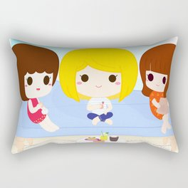 BFF Club Cute Kawaii Girls Scandi Interiors Rectangular Pillow