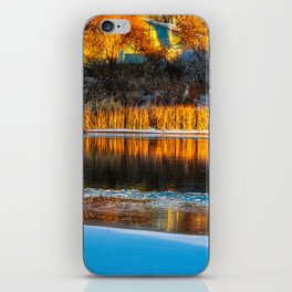 Winter Evening River iPhone Skin