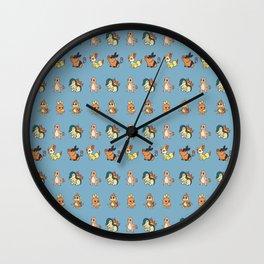 Fire Starters Pattern Wall Clock