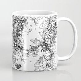 Helsinki White Map Coffee Mug