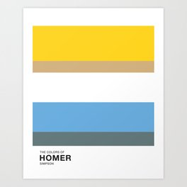 The Colors of - HOMER  Simpsons Art Print