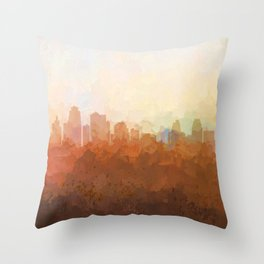 Kansas City, Missouri Skyline - In the Clouds Throw Pillow