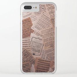 Wrong Notes Clear iPhone Case
