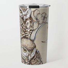 Duality - Two Burrowing Owls Travel Mug