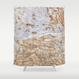 Rust Detail Stone // Unique Textured Naturally Made Material Rocky Accent Shower Curtain