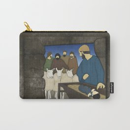 Nativity: Shepherds visit baby Jesus in the Bethlehem manger Luke 2:8-20 Carry-All Pouch