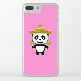Mexican Panda Fiesta T-Shirt for all Ages Dotqm Clear iPhone Case