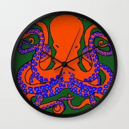 The Cunning Octopus Wall Clock