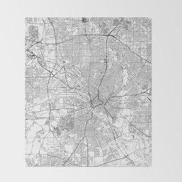 Dallas White Map Throw Blanket