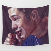 austin Wall Tapestries featuring Austin Mahone by Kerri Dixon Art