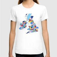 scotland T-shirts featuring England, Ireland, Scotland & Wales by Project M