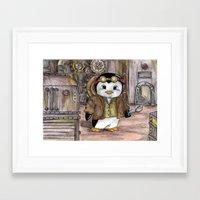 engineer Framed Art Prints featuring Penguin Engineer by Tanya Davis Art