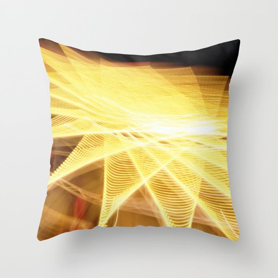 Filament Star Throw Pillow