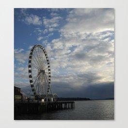 Seattle Great Wheel - Ferris Wheel on the Pier Canvas Print