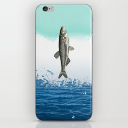 little fish big fish iPhone Skin