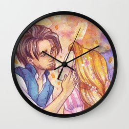 Rapunzel kiss Wall Clock