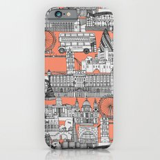 London toile peach Slim Case iPhone 6