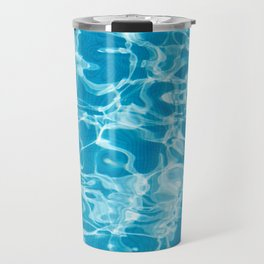 Geometric Pool Me - Retro Pool - Travel Mug
