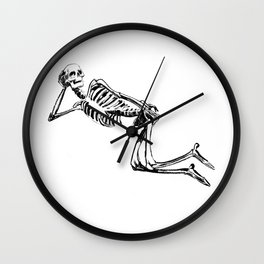 DRAW ME LIKE ONE OF YOUR FRENCH SKELETONS Wall Clock