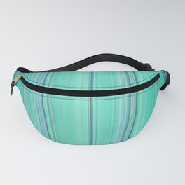 Abstract mixed stripes Green1 Fanny Pack