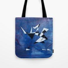 blue pattern art  Tote Bag