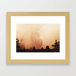 The sky is filled with smoke Framed Art Print