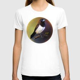 Javan munia realistic painting T-shirt