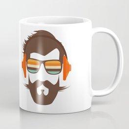 Hipster Face with Headphone Coffee Mug