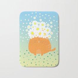 cat&flowers Bath Mat