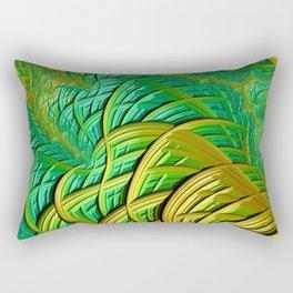 patterns green yellow string Rectangular Pillow