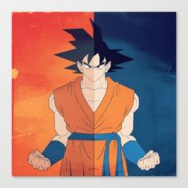 Minimalistic Goku Canvas Print