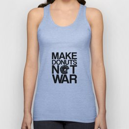Make Donuts Not War Unisex Tank Top