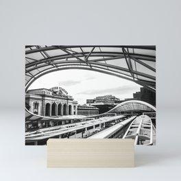 Union Station // Train Travel Downtown Denver Colorado Black and White City Photography Mini Art Print