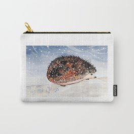 Hedgehog Facing Blizzard Carry-All Pouch
