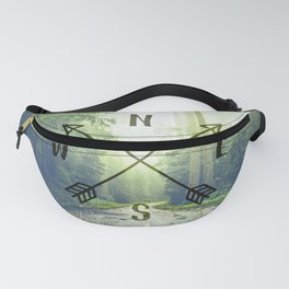 Compass in the Redwoods Fanny Pack