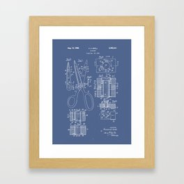 Patent Art - Scissors Breakout Exploded-view Framed Art Print